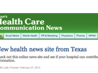 Ragan's Health Care News Features Newsroom Ink's HealthNewsTexas.com