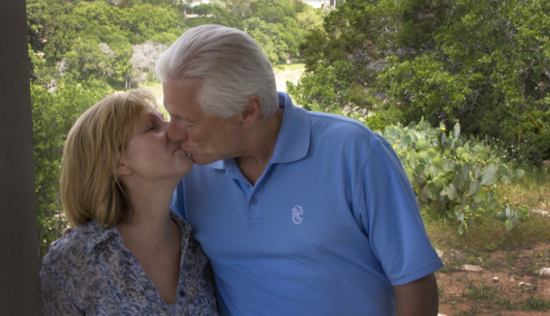 Tom and Marti Mattia will miss their hill country Texas home where they are building a new back deck to overlook the Pedernales River. Photo: Ed Lallo/Newsroom Ink